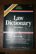 LAW DICTIONARY 3d edition 1991 Steven H. Gifis