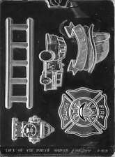 FIREFIGHTER KIT fire truck Ladder fireman hat badge fire hydrant chocolate   m64
