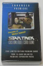 Decipher Star Trek Enhanced Premiere Data and Geordi CCG Sealed NEW