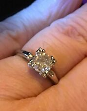 1Ct Round Cut Diamond Solitaire Vintage Diamond Engagement Ring Yellow Gold