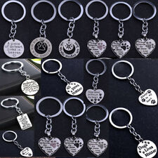 Keyring Keychain Pet Memorial Dog Cat Loss Paw Print Love Heart Charm Pendant