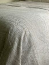 Restoration Hardware Abstract Washed Cotton-Linen Duvet Cover - King, Dune