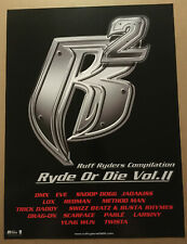 RUFF RYDERS Rare PROMO POSTER for 2000 CD SNOOP DOGG Method Man SCARFACE Redman