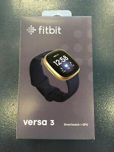 Fitbit - Versa 3 Health & Fitness Smartwatch - Soft Gold
