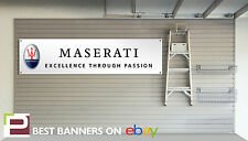 Maserati Workshop Garage Banner PVC Sign, quattroporte, granturismo, mc12,