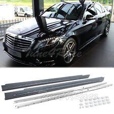 For 14-Up Benz S-Class Sedan S63 S65 AMG Style W222 Side Skirts Rocker Panel Kit