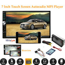 """7"""" Autoradio Touch Screen MP5 Player 2 Din Stereo Remote FM USB/TF/AUX Bluetooth"""