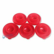 (Lot of 5) Red Water Bottle Snap On Caps 55mm Lids Dew Caps Tops Jug Container