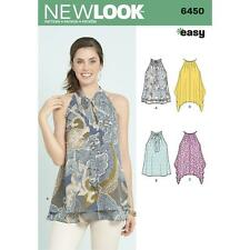 NEW LOOK SEWING PATTERN MISSES' EASY TOPS WITH OPTIONAL NECK TIE SIZE 6 - 18 645