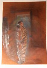 А. Изотикова 1948  Russische Moderne  Die Gefangene  Bleistift und Pastelkreide