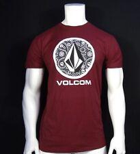 New listing New Volcom Surfing Crew Burgundy Classic S/S Sport Mens T Shirt RVLC-131