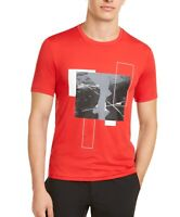 Michael Kors Mens T-Shirt Red Size Small S Stretch Logo Graphic Tee $79- 088