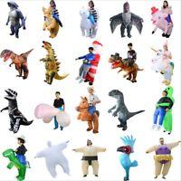 20 Type Inflatable Costume T-Rex Fancy Dress Halloween Blow up Suit Adult Kids