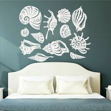 Seashells Ocean Vinyl Wall Sticker Nautical Beach Window Decal Kids Room Decor