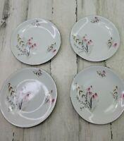 "4 Royal Duchess Fine China Mountain Bell Bavaria Germany Salad Plate 7.75"""