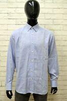 Camicia Uomo PIERRE CARDIN Taglia Size 16 XL Maglia Shirt Man Blu Chiaro