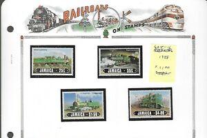 RAILROADS (D)...Jamaica...#608-11...Mint NH...1985...SCV $11.00