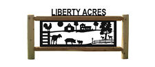 PERSONALIZED OUTDOOR SIGNS - PIGS - GOATS - CHICKENS - FARM AND RANCH DECOR