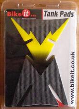 Motorcycle Tank Pad - Carbon/Yellow/Black