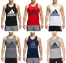 ADIDAS MEN'S BOS TANK SLEEVELESS TEE M L XL XXL WHITE BLACK GRAY RED NEW NWT