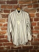 New Polo Ralph Lauren M Country Club 80s/90s Executive Wall Street Banker Shirt