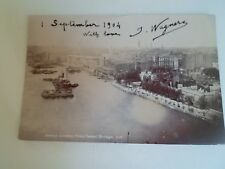 London From Tower Bridge Dated 1904 Vintage Real Photo Postcard  §A2992