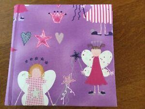 "Purple Princess Fabric LIBROMOUNT PHOTO ALBUM! 8.5""x8.3""! Holds 200 Photos! New!"