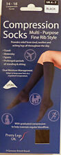 Pretty Legs Small to Medium Size Fine Rib Style Compression Support Socks