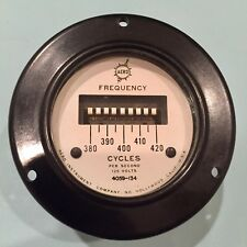Aero Instrument Corporation Frequency Cycles Per Second #4059-134 Gauge Meter