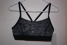 * Lulu Lemon * Rise and Run Bra SZ 10 MISW/BLK Brand NEW w/ Tags $52 Retail