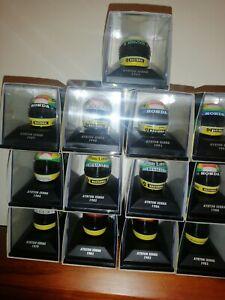 Minichamps Ayrton Senna Helmet Collection RARE  13 Helmets