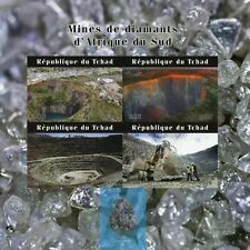 More details for chad minerals stamps 2020 mnh diamond mines of south africa mining 4v impf m/s