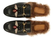 NEW GUCCI PRINCETOWN BLACK LEATHER HORSEBIT DETAIL SLIPPER LOAFER SHOES 8.5/US 9
