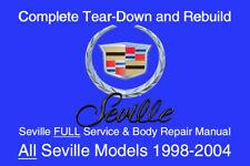 Cadillac Seville 1998 - 2004 Service Repair Workshop Manual Maintenance GM DVD