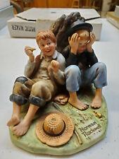 "New ListingVintage Norman Rockwell Figurine "" The Adventures Of Tom Sawyer� First Smoke"