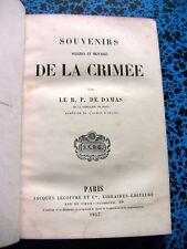 1857 CRIMEE ARMEE D' ORIENT MILITARIA CONSTANTINOPLE TURQUIE GUERRE SEBASTOPOL