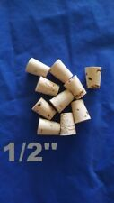 CORK stopper plug round tapered style crafts fishing lab wine all natural *1/2*
