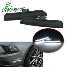 Front Side Marker Lamps w/White LED Lights For 2010-2014 2013 2012 Ford Mustang