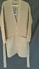 Banana Republic Italian Knit Cardigan Sweater Taupe/Brown Large NWT
