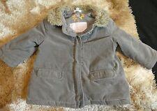 VERTBAUDET fille bébé en coton brossé Manteau Capuche Dissimulée Âge 9-12 mois