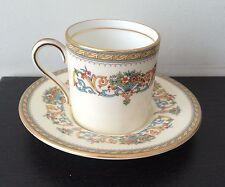 Beautiful Aynsley Bone China Demitasse Cup and Saucer in Henley Pattern
