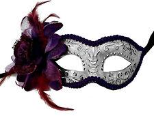 Silver & Purple Masquerade Mask, Steampunk Eyemask, Venetian, Costume Mask