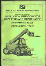 Merlo Telescópico Handler panorámica P40.16 K /& P40.16 Manual del operador Ks