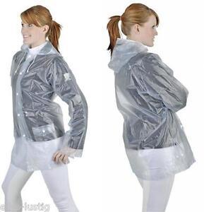 Regenjacke mit Kaputze transparent modern praktisch viele Größen auch Kinder Neu
