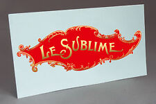 BIG PATHE LE SUBLIME WATER SLIDE DECAL GRAMOPHONE PHONOGRAPH