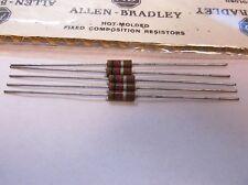 5 Allen Bradley Carbon Comp Resistors 1k 1/2W 10%