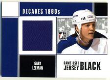 2011 ITG Decades 1980's GARY LEEMAN GU Jersey