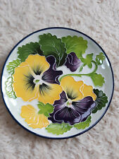 Blue Sky J McCall Icing on the Cake Pansies Plate 2004