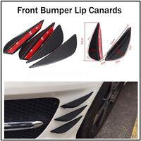 4Pcs Universal Car Front Bumper Lip Diffuser Splitter Spoiler Fin Canard Valence