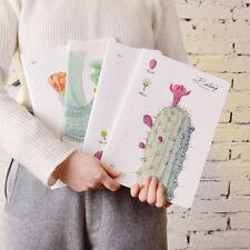 1Pc Portable Cute Cactus Kraft Paper Notepad Memo Diary Notebook Exercise Book
